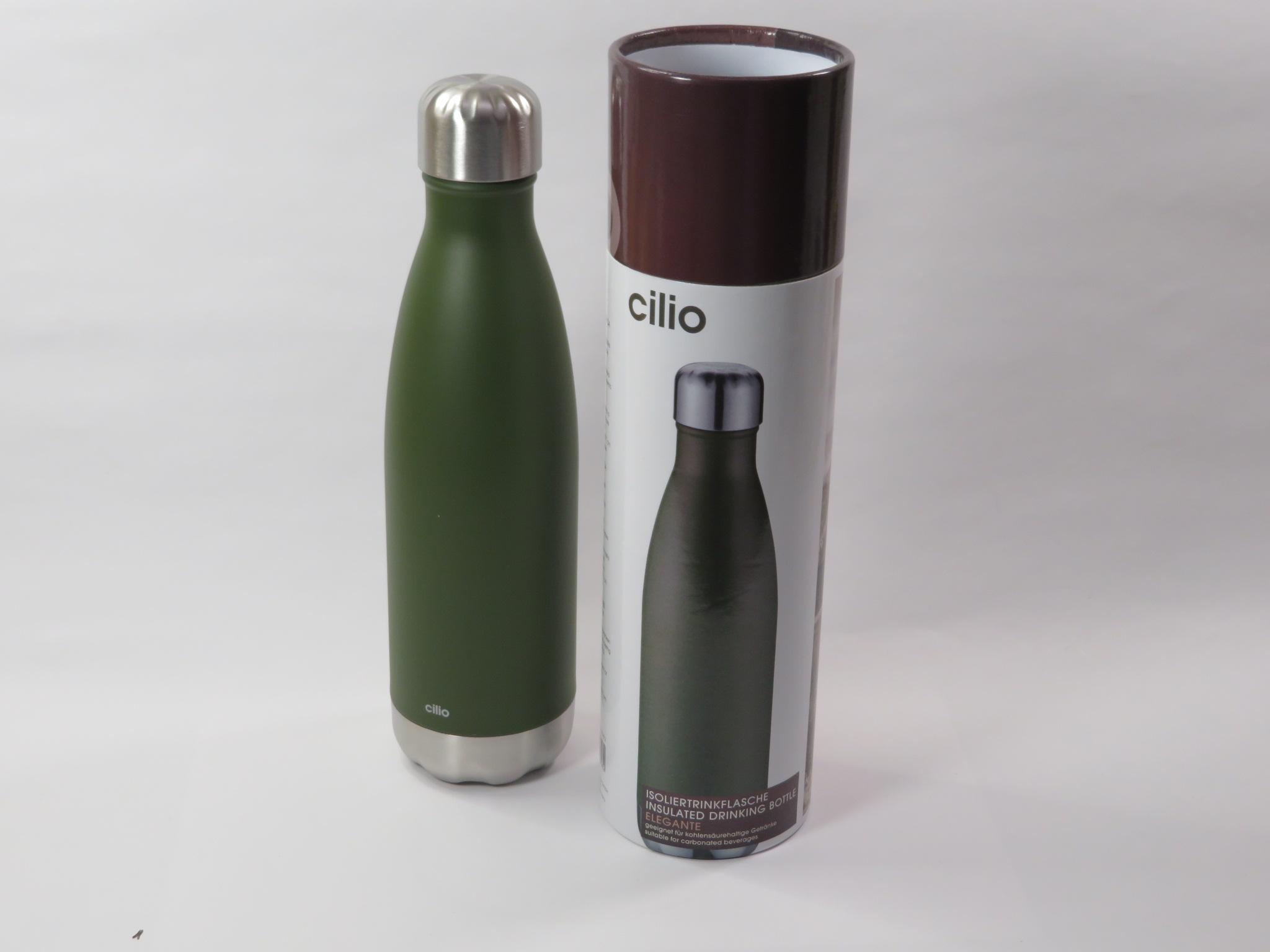 Bottiglia termica 500ml verde opaco