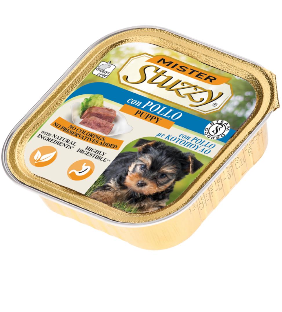 Stuzzy - Mister Dog - Puppy - 150g x 22 vaschette