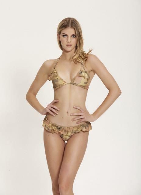 Bikini Triangolo lurex Camouflage Cotzur