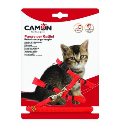 Parure per gattini collare e guinzaglio Camon