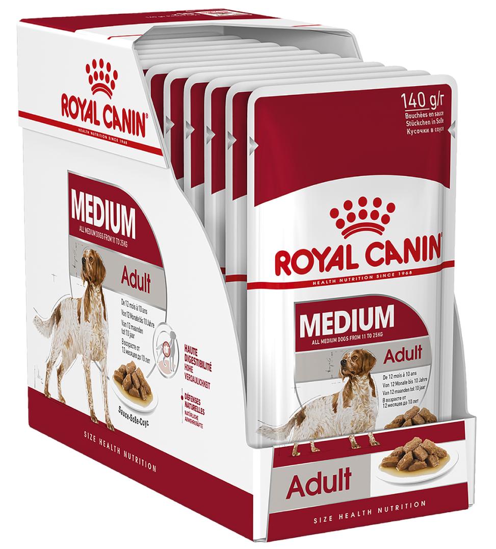 Royal Canin - Size Health Nutrition - Medium Adult - 140g x 10 buste