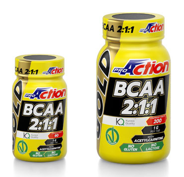 Proaction BCAA Gold 2:1:1 200 Compresse