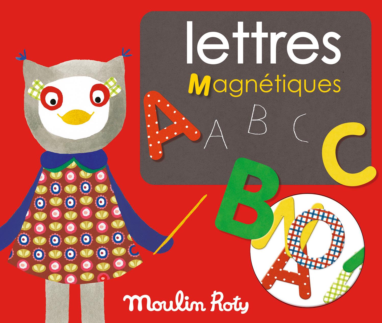 Lettere magnetiche colorate in legno