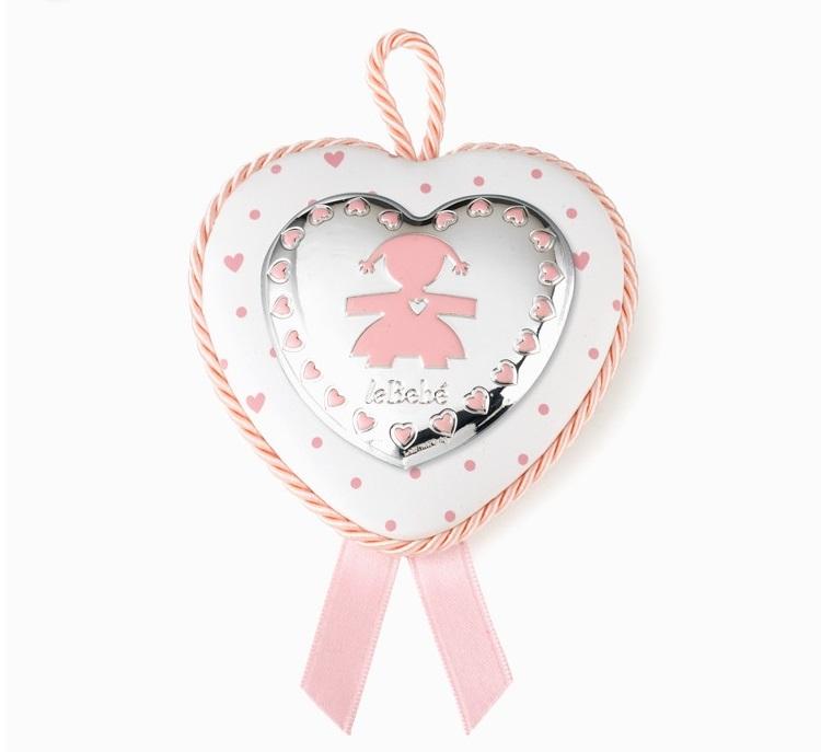 LeBebé Carillon - Capoculla Medaglione cuore rosa