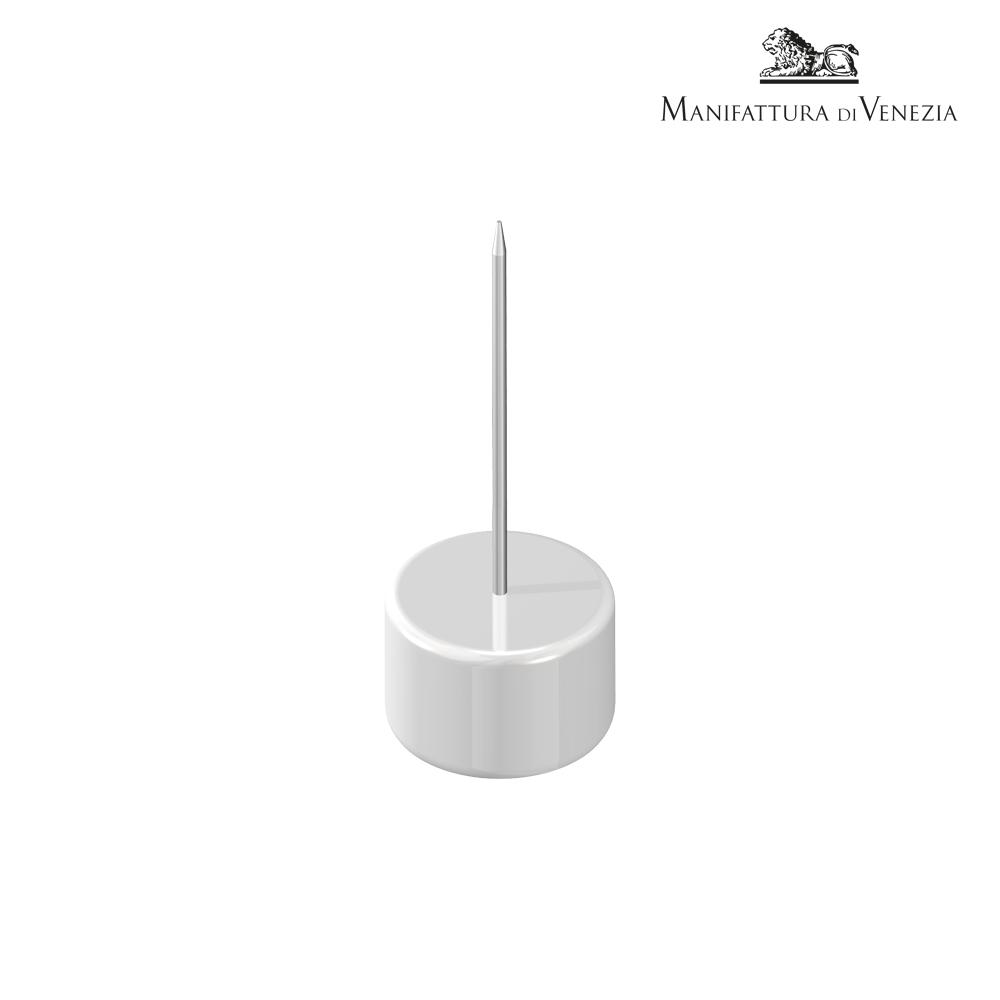 Portaspiedino rotondo bianco + spiedino alto | Finger Food
