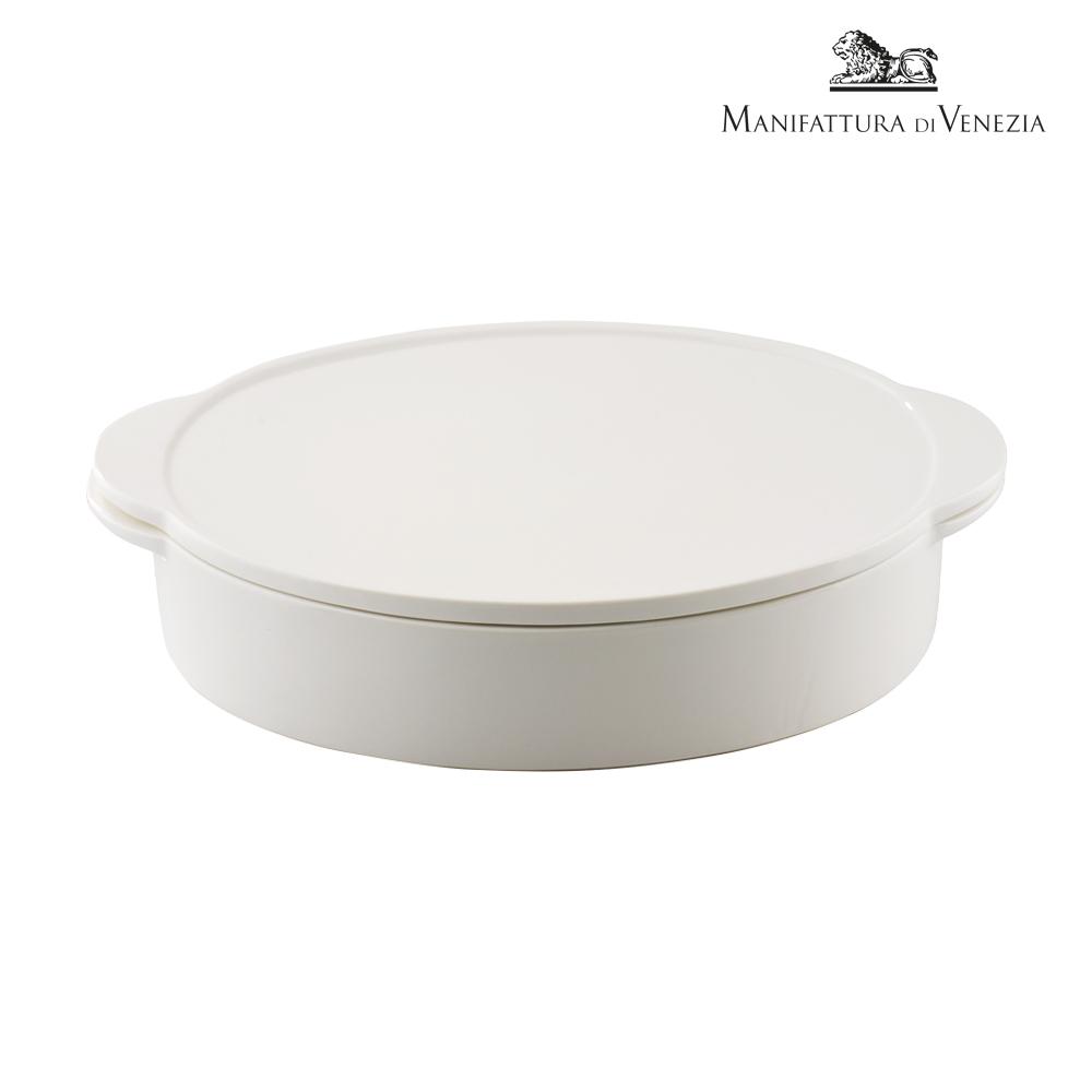 Pirofila con coperchio ovale bianca cm 18 | PYRO SURPRISE