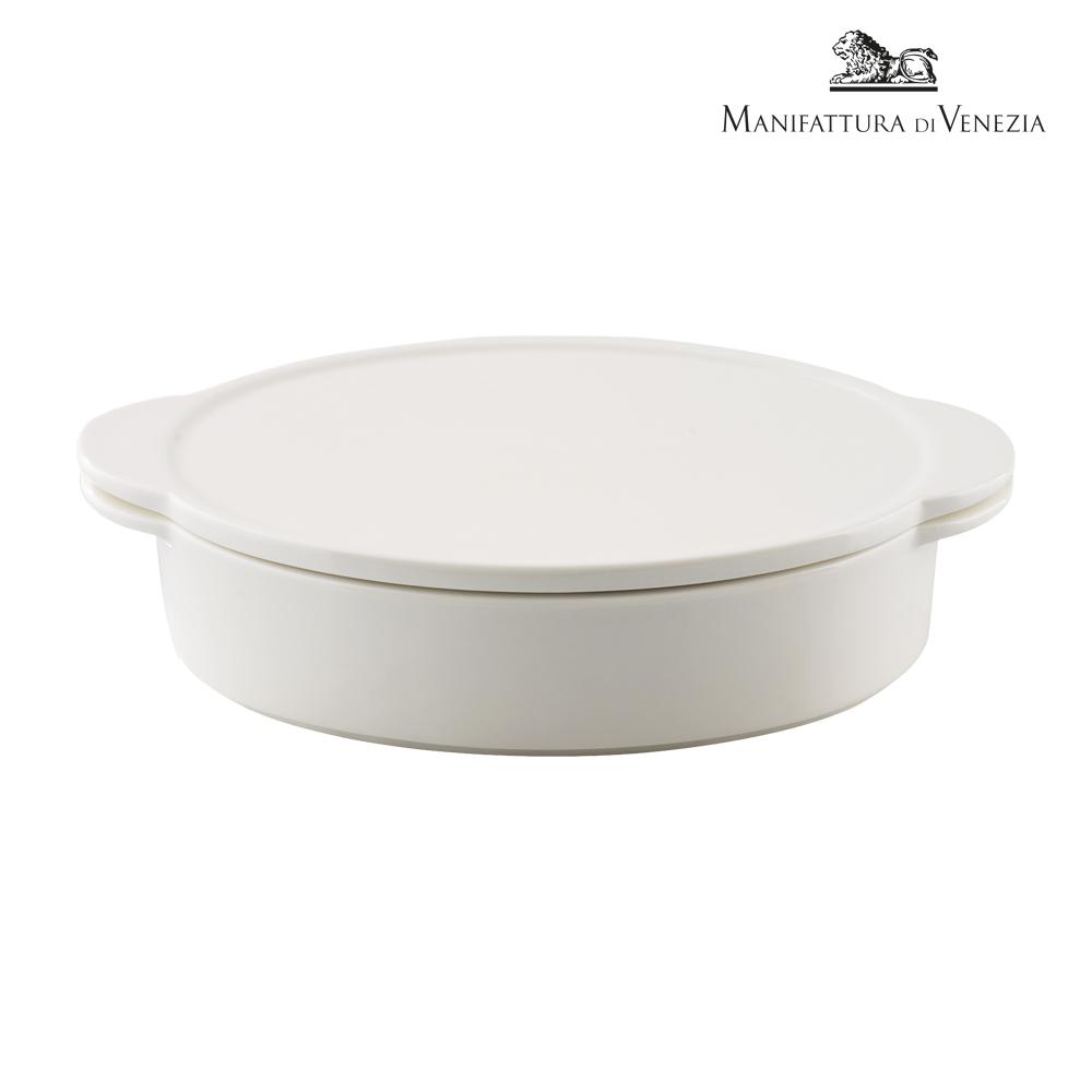 Pirofila con coperchio ovale bianca cm 24   PYRO SURPRISE