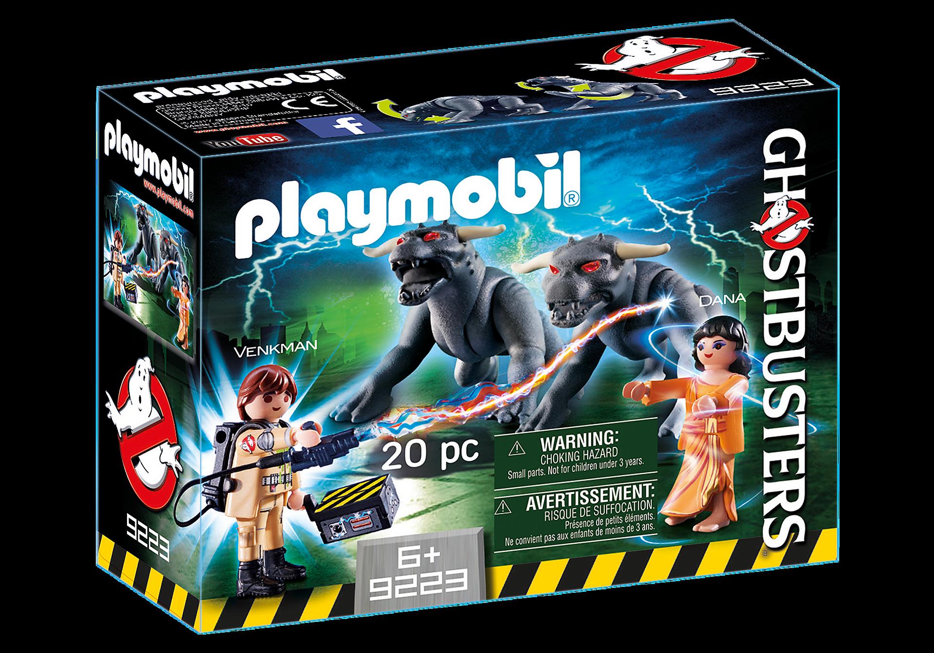 Playmobil 9223 GHOSTBUSTERS : Venkman, Dana e i cani infernali