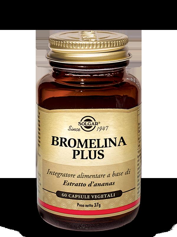 Solgar Bromelina Plus-60 capsule vegetali