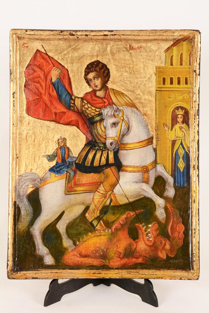 Icona bulgara San Giorgio cm 30x23