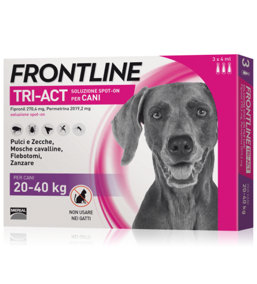 Frontline - TriAct - Da 20 a 40 kg - 3 pipette - SCAD. 30/09/2021