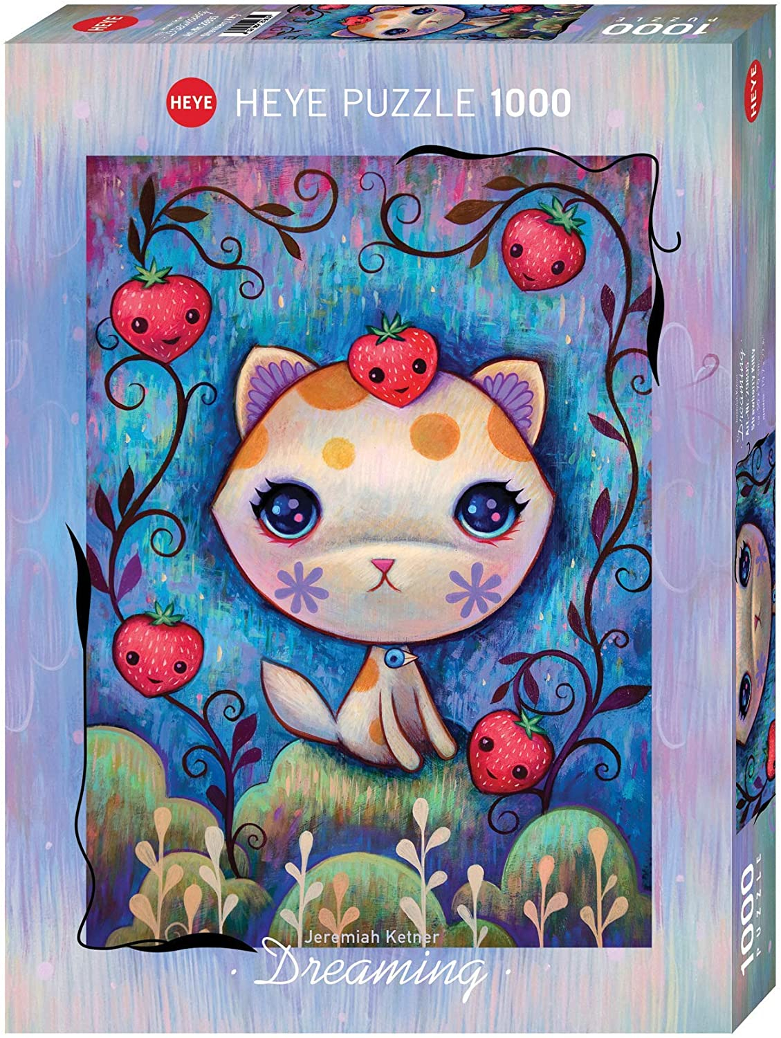 HEYE - DREAMING (by Jeremiah Ketner) Strawberry Kitty - Puzzle 1000 Pezzi