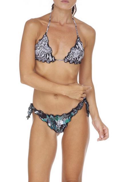Bikini Triangolo e slip nodi brasiliano regolabile Frou Frou Garden Effek