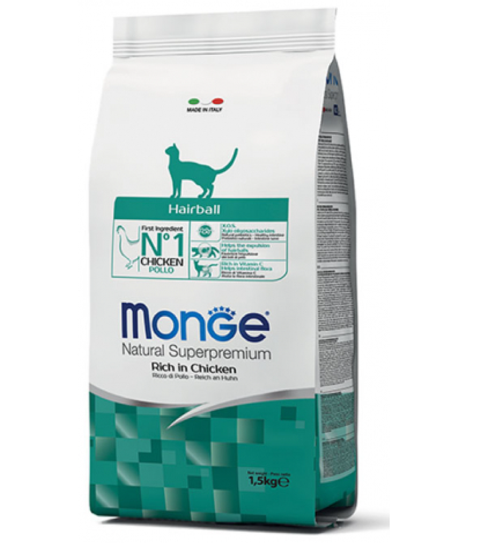 Monge Cat - Natural Superpremium - Hairball -10 kg