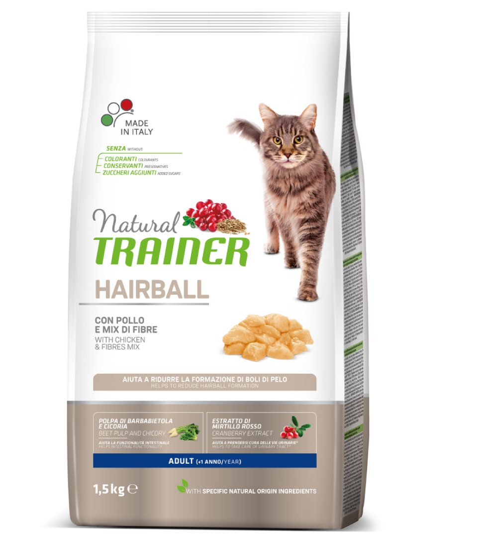 Trainer Natural Cat - Hairball - 1.5 kg