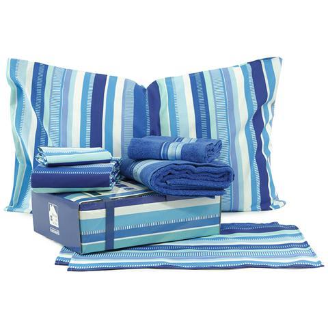 Bassetti BLUE BOX - Home in a Box kit regalo letto singolo-set 1+1-tovaglie