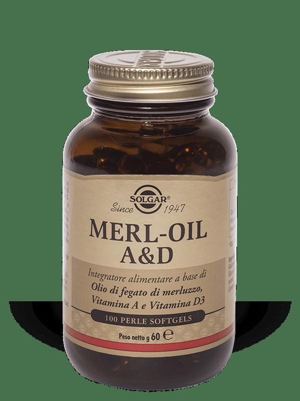 Solgar Merloil A & D 100 perle - softgels