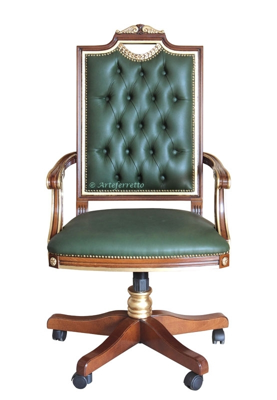 Upholstered swivel armchair