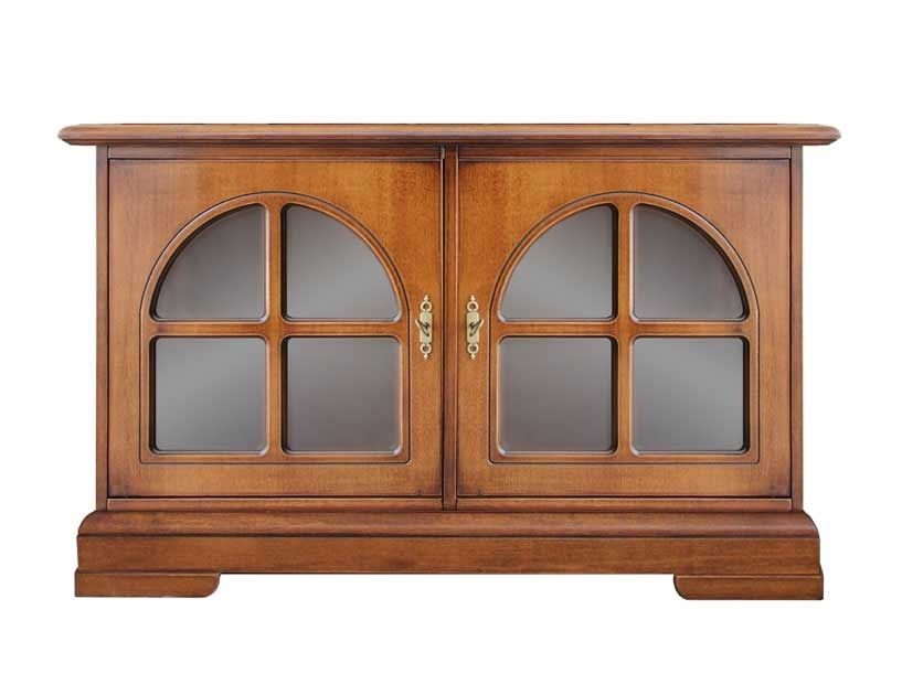 Charming low sideboard with glass doors
