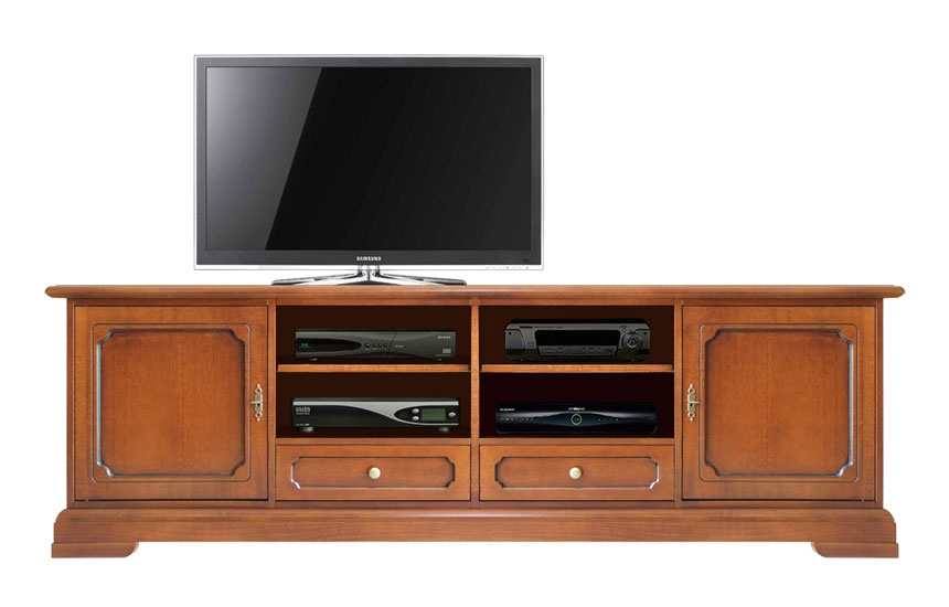 2 meters tv unit in wood