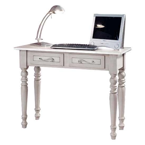 Decorated desk with 2 drawers