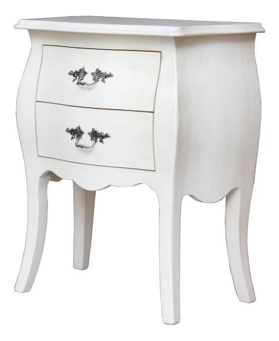 Rounded lacquered nightstand