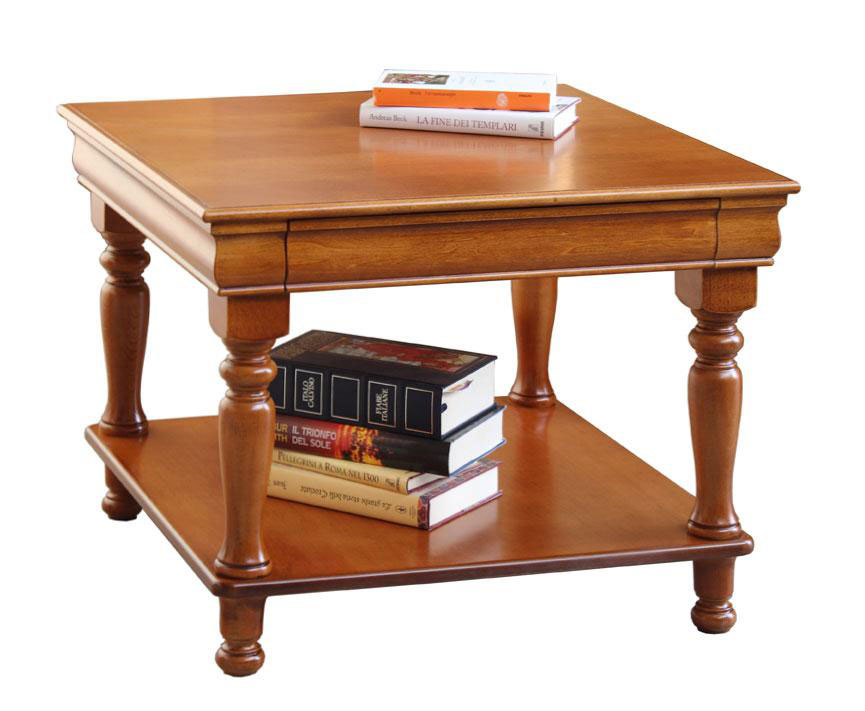 Squared coffee table Louis Philippe style