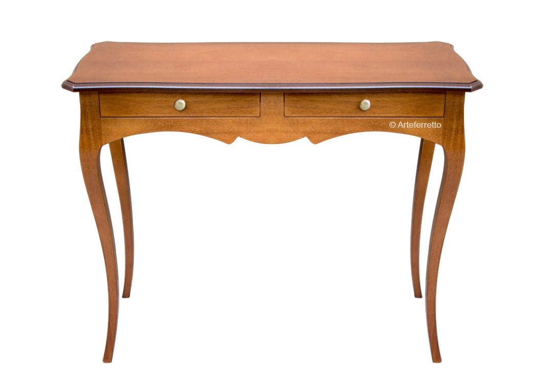 Shaped console table simple line