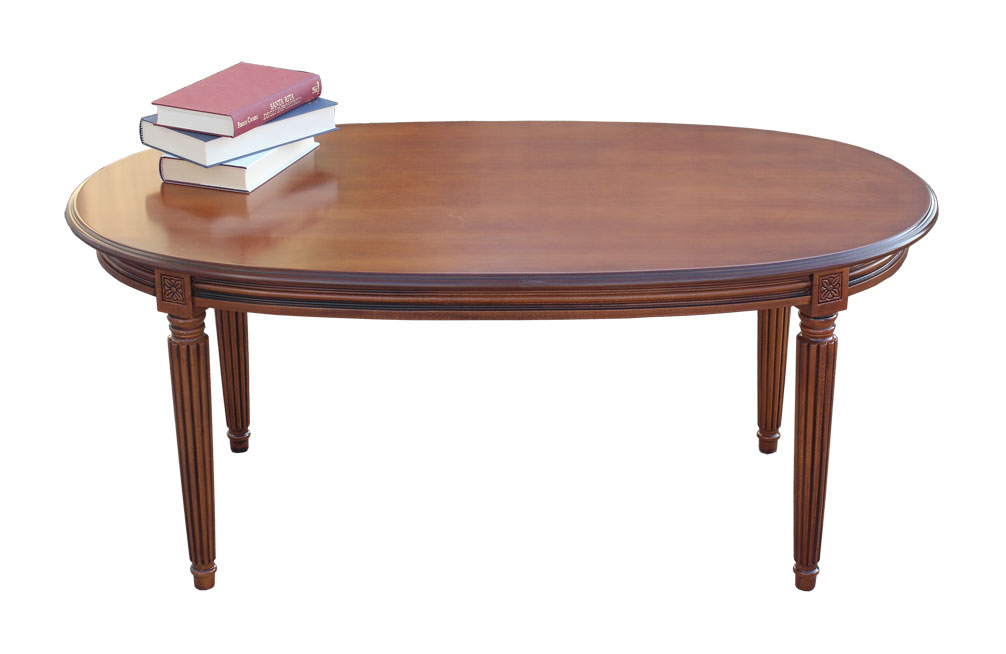 Oval coffee table in Empire style