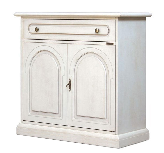 Lacquered sideboard cabinet 2 doors