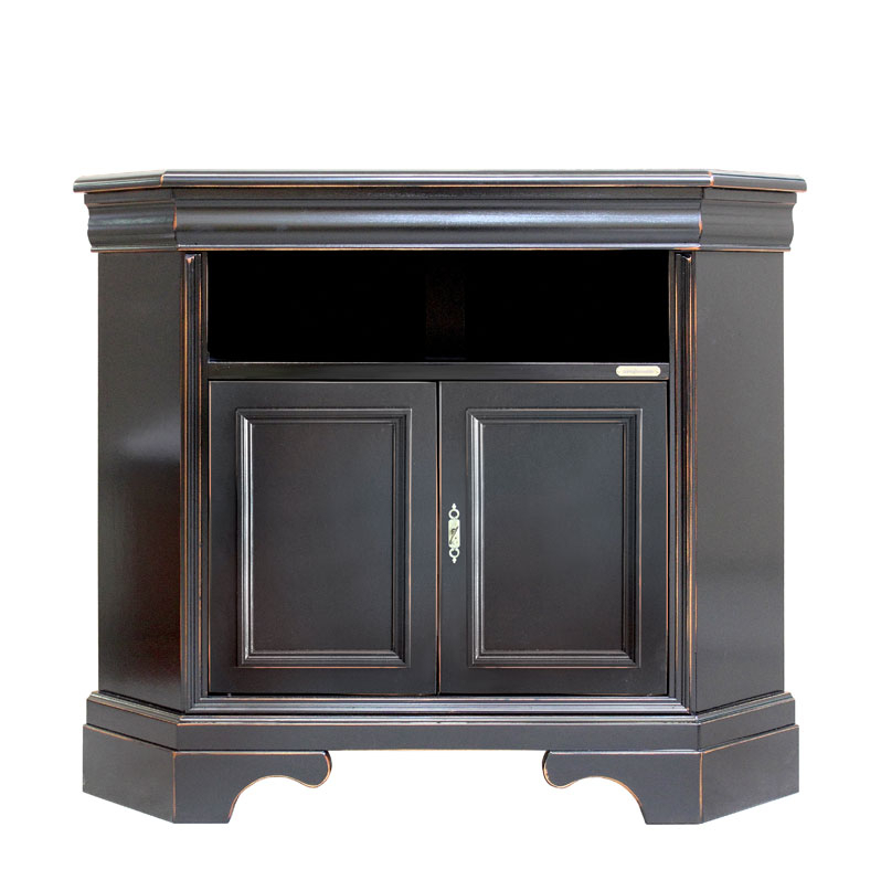 Corner tv cabinet in wood, classic design