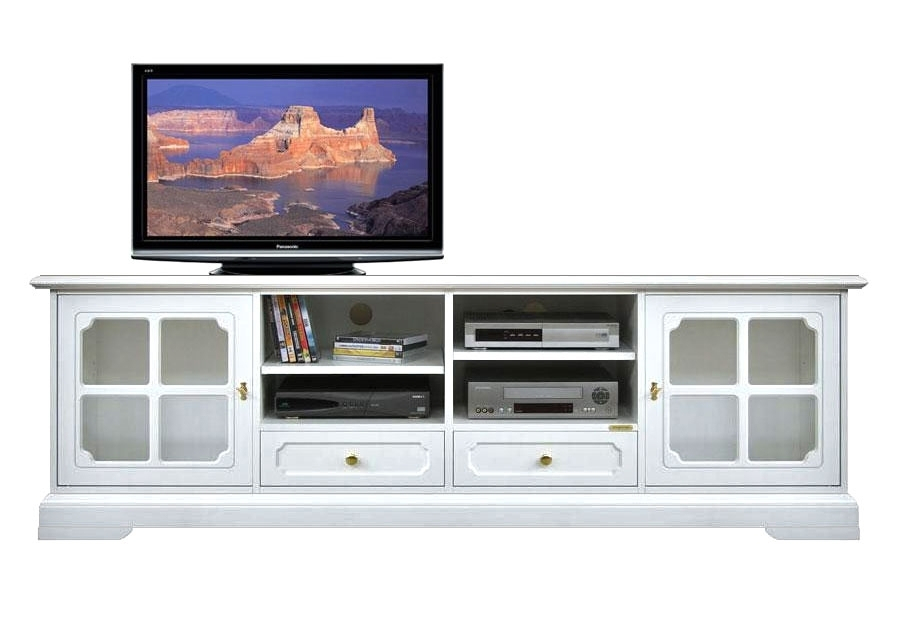 Lacquered wooden tv stand 2 meters