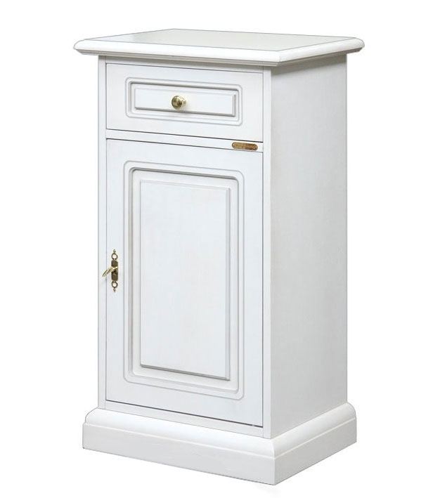 Wooden small cabinet with drawer