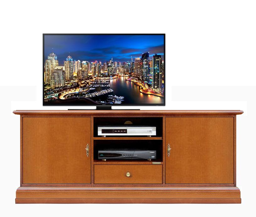 Smooth 2 door tv cabinet in wood
