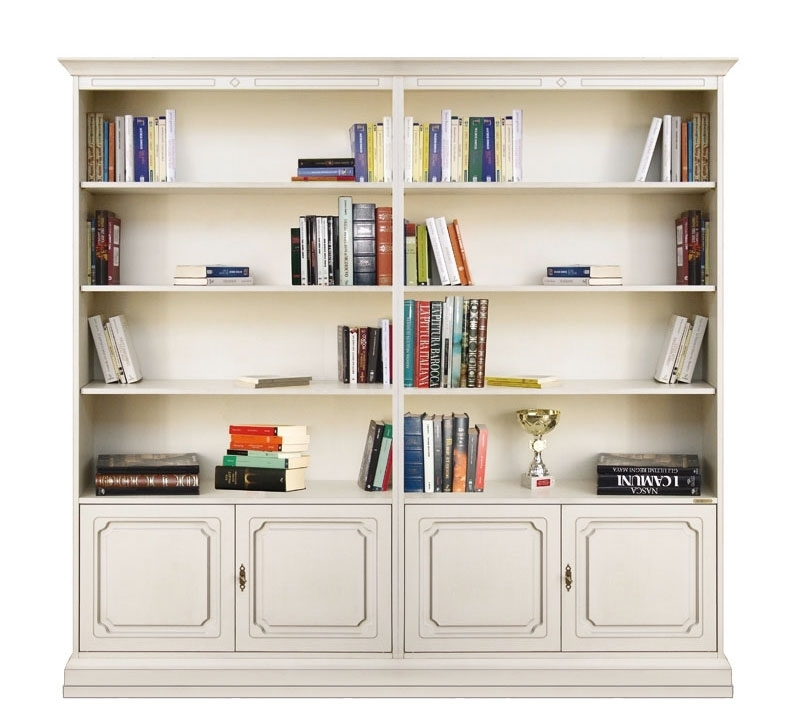 Double wide bookcase in wood