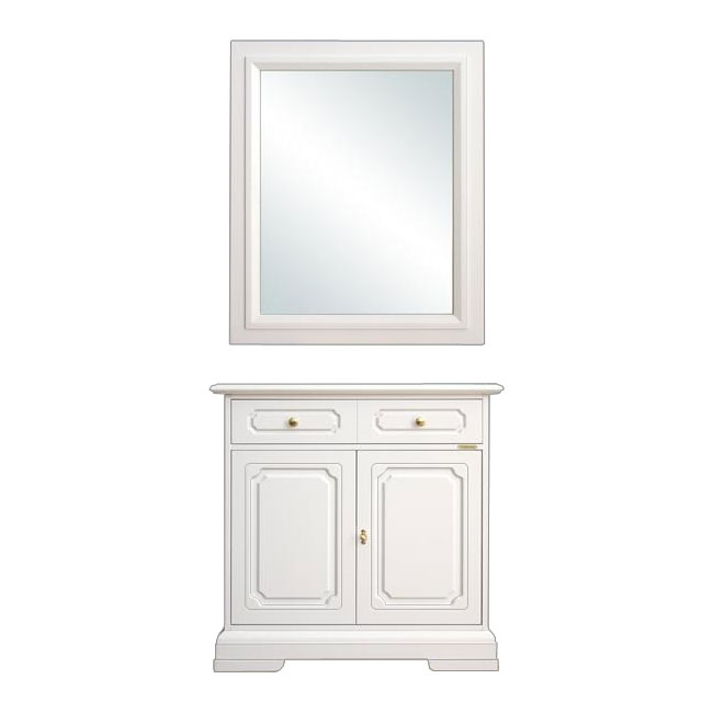 Entryway sideboard with mirror