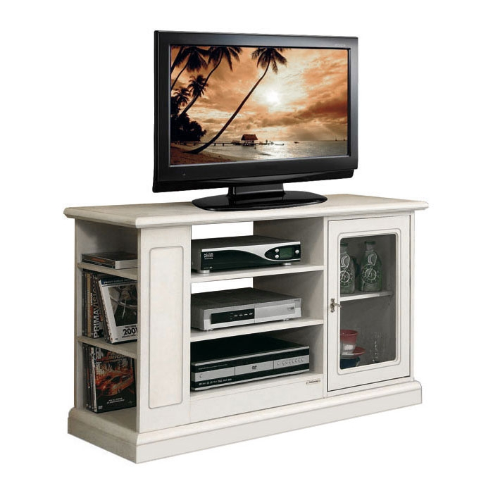 Entertainment TV cabinet with shelves