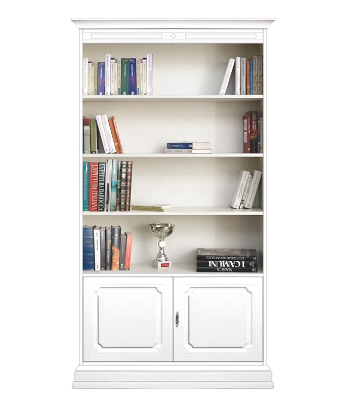 2-door bookcase with shelves