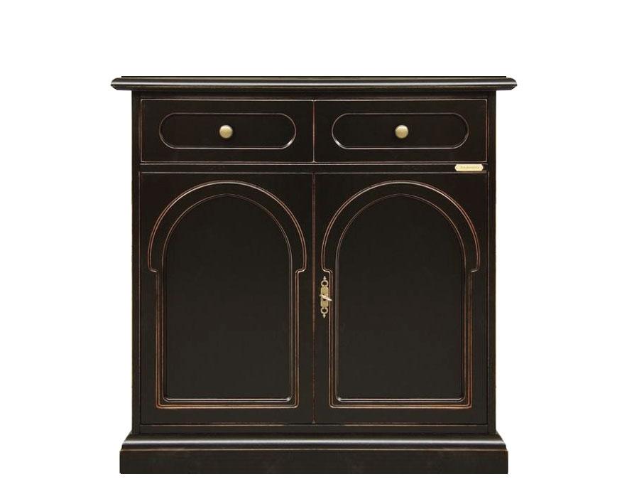 Black sideboard cabinet in wood