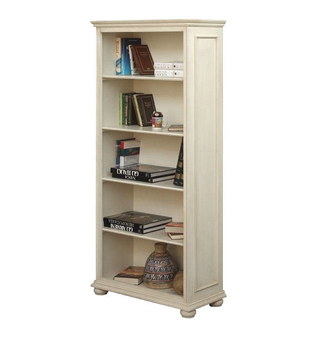 Open shelving bookcase in wood
