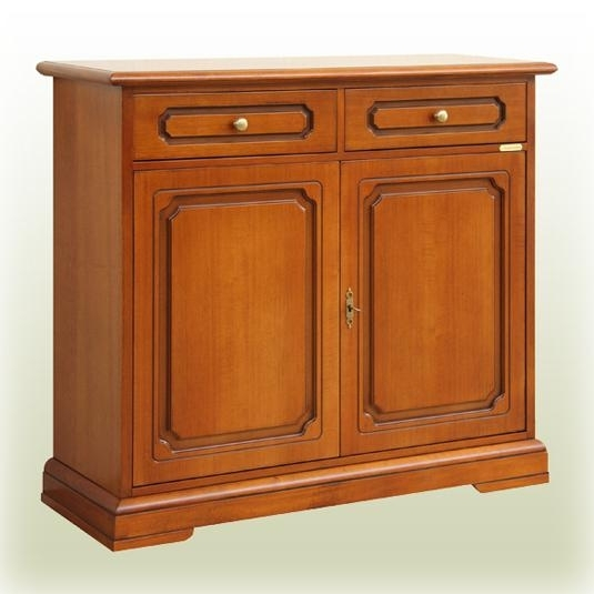2 doors 2 drawers cupboard in wood