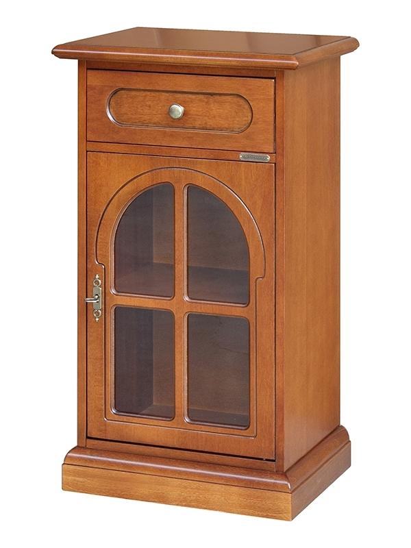 Classic side cabinet 1 glass door