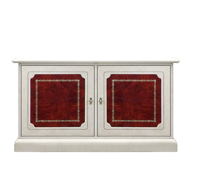 Small sideboard with leather