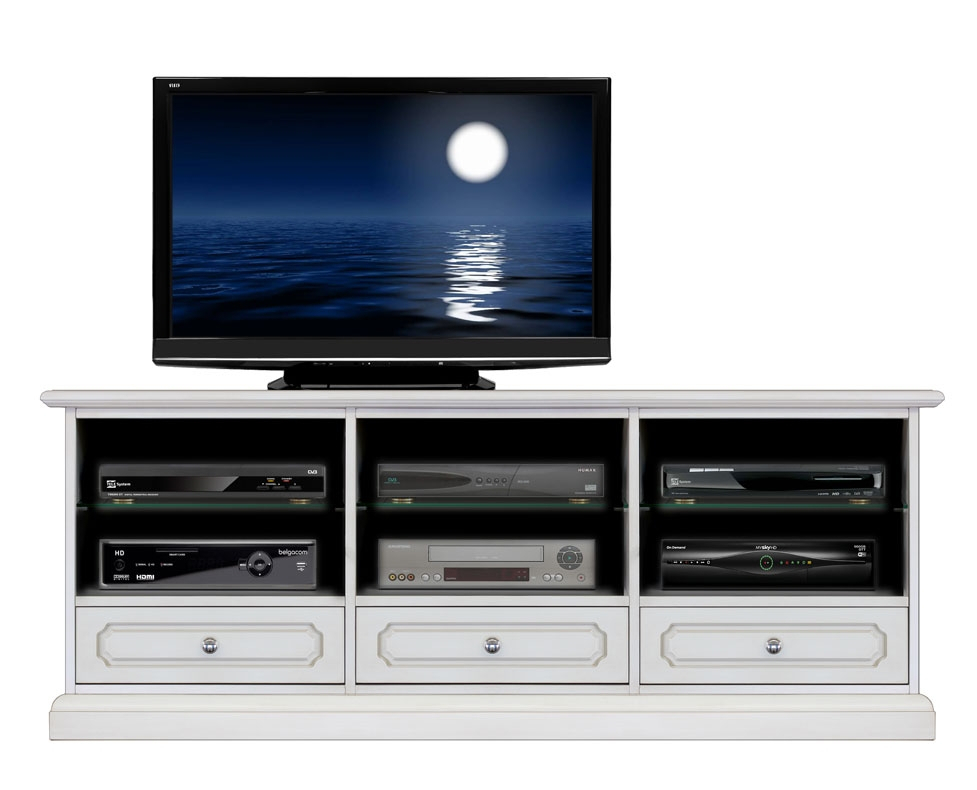 Lacquered Tv unit with 3 drawers