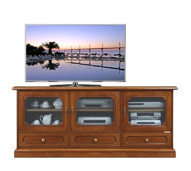 Classic Tv sideboard 3 glass doors