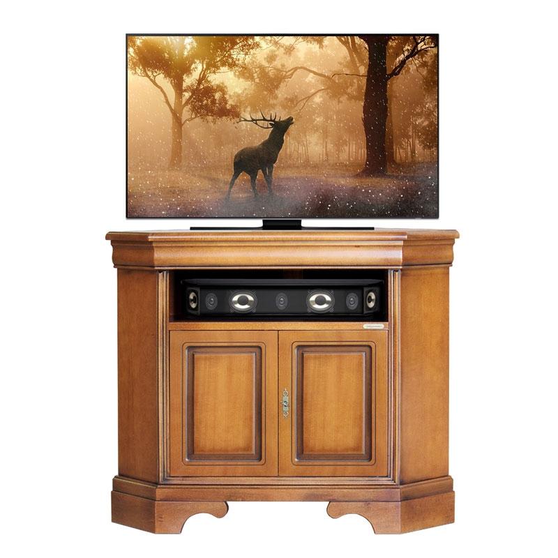 Corner TV stand in classic style