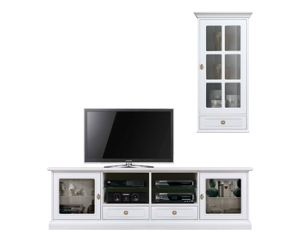 Wall tv unit 2 meters stand and wall cabinet