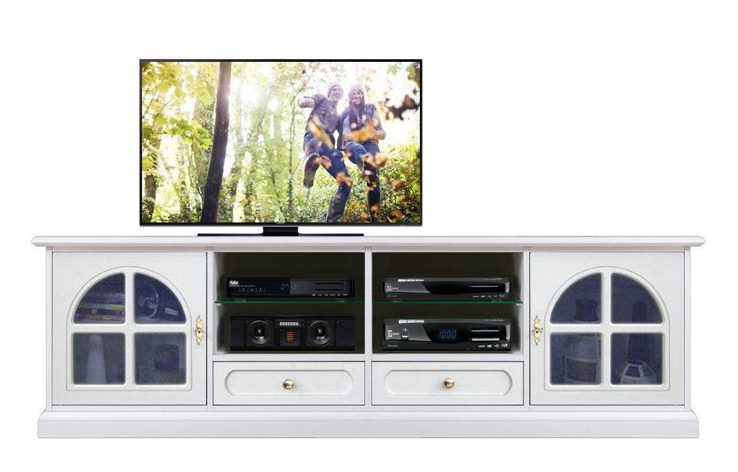 2 metres glass door tv unit in wood