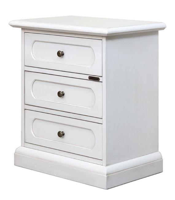 Laquered bedside table 3 drawers
