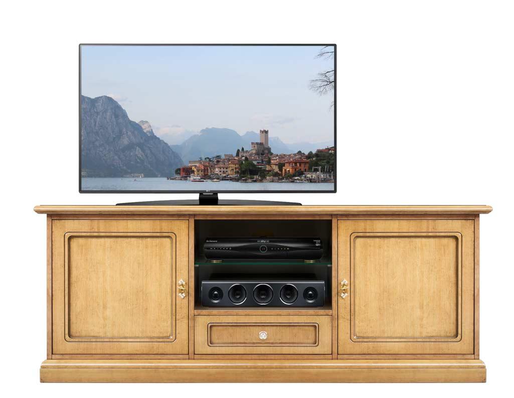 2 doors tv unit in wood